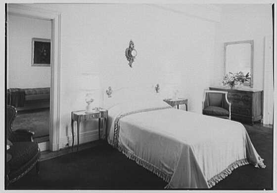 Harvey Newins, residence at 1 Beekman Place, New York City. Guest room I