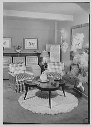 Albert Tramer, residence at 141 E. 56th St., New York City. Living room I