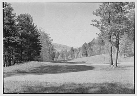 The Homestead, Hot Springs, Virginia. No. 2 putting green