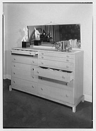 Bedroom set at Quackenbush's, Paterson, New Jersey. Detail of bedroom set A