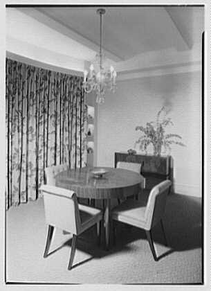 Kurt Olden, residence at 215 W. 90th St., New York City. Dining room I