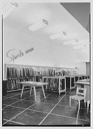 Bernard Shultz Department Store, business at Third and Main St., Evansville, Indiana. Sportswear