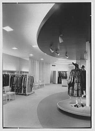 Bernard Shultz Department Store, business at Third and Main St., Evansville, Indiana. View to gold room
