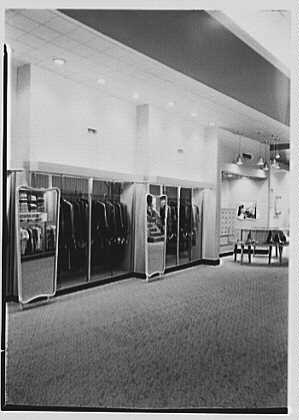 Messinger's, business in New Rochelle, New York. General view, to tailored dresses