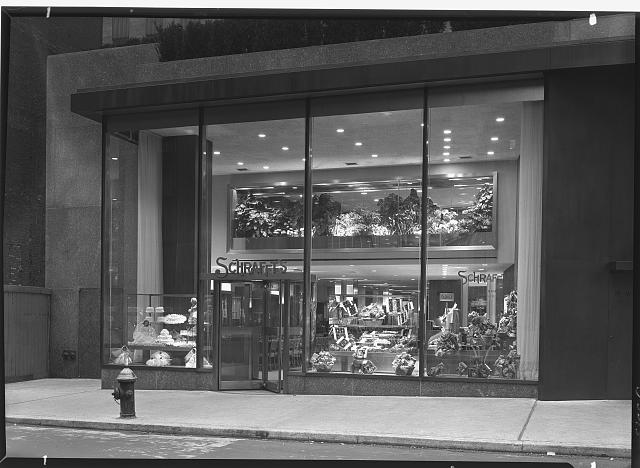Schrafft's, Esso Building, Rockefeller Center, New York City. 51st St. exterior