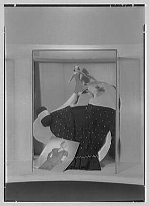 James Lees & Sons Co., business at 295 5th Ave., New York, New York. Woman and dog display