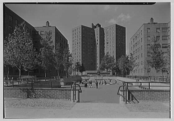 Abraham Lincoln Houses, 135th St. and Madison Ave., New York City. East playground