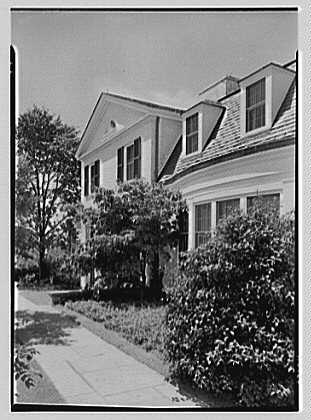 Robert T. Swaine, residence in Milton, Connecticut. Sun room wing from portico
