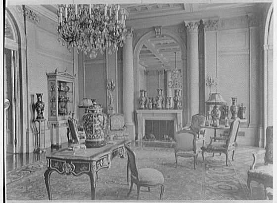 John D. Rockefeller, Jr., residence at 10 W. 54th St., New York City. Living room