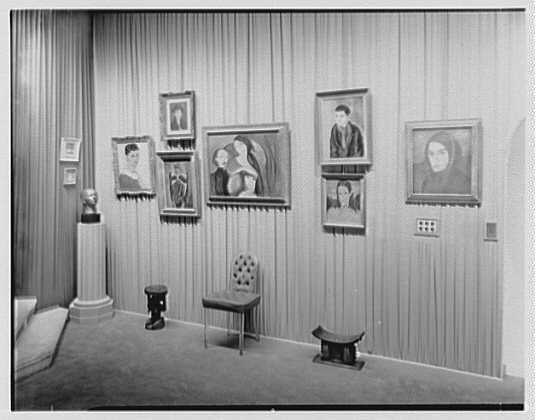 Helena Rubinstein, residence at 625 Park Ave., New York City. Art gallery IX