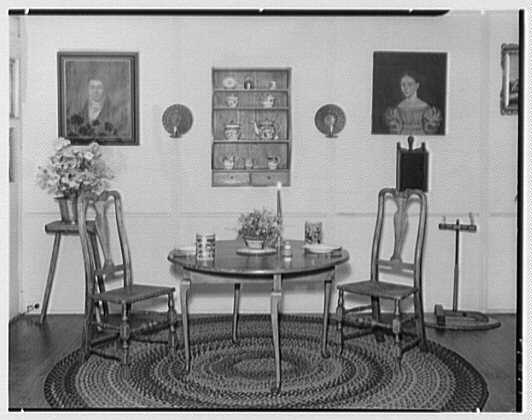 Mrs. Lawrence J. Ullman, business on Prospect Ave., Tarrytown, New York. Dining room set-up