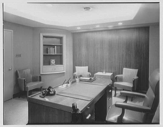 Trade Bank and Trust Co., 7th Ave. and 38th St., New York City. President's office