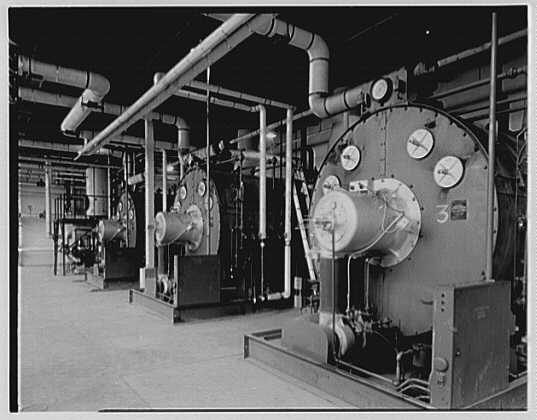 Fairchild Aircraft Corporation, Bayshore, Long Island, New York. Boiler room II