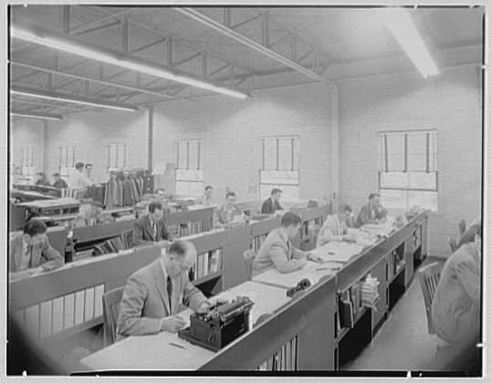 Corydon M. Johnson Co., Bethpage, Long Island. Writing group