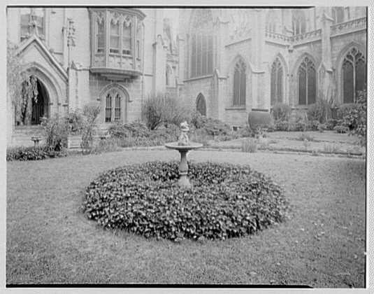 Grace Church, 9th and Broadway, New York City. North garden IV