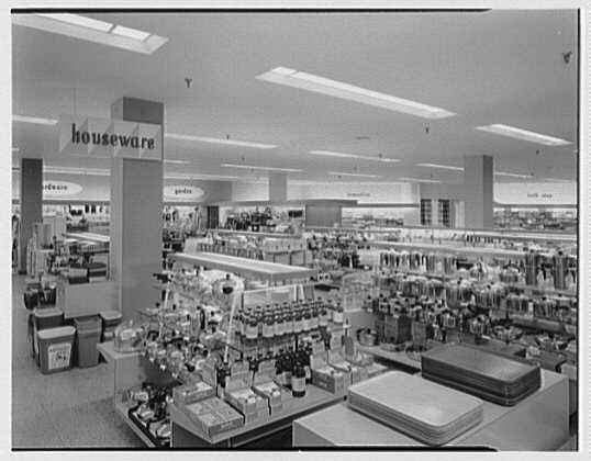 Burdine's department store, business in 163rd St. Shopping Center, Miami, Florida. Houseware & domestic II