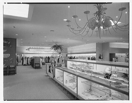 Burdine's department store, business in 163rd St. Shopping Center, Miami, Florida. Better dresses