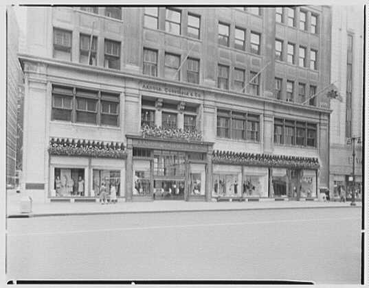 New York City views. Arnold Constable decorations