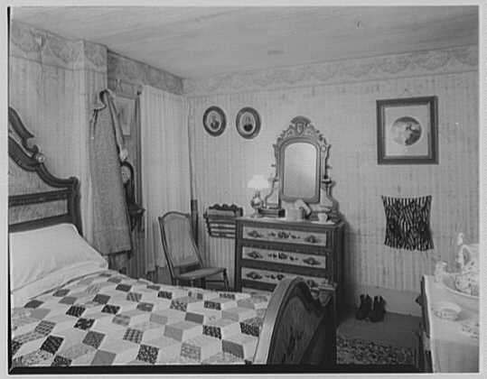 President Calvin Coolidge. Shoes, bathrobe and quilt