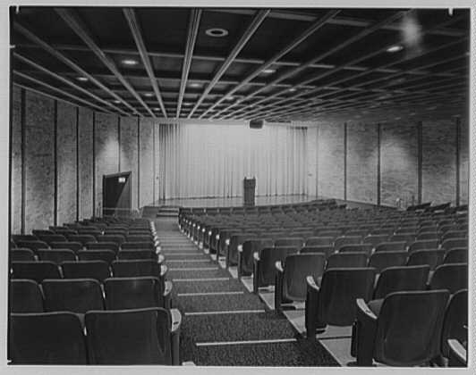 Wright Hall, Smith College, Northampton, Massachusetts. Auditorium, to stage I