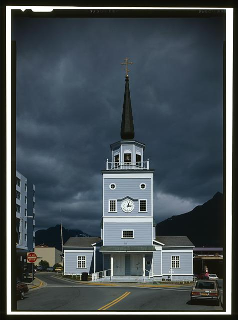 25.  WEST FRONT - Saint Michael's Cathedral, Lincoln Street, Sitka, Sitka Borough, AK