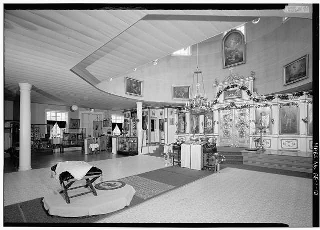 12.  INTERIOR, NAVE, LOOKING NORTHEAST TOWARD NORTH CHAPEL - Saint Michael's Cathedral, Lincoln Street, Sitka, Sitka Borough, AK