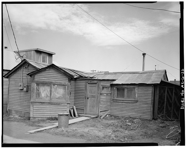 22.  LEONARD SEPPALA HOUSE, BERING STREET, SOUTH OF SECOND STREET, ON EAST SIDE, LOOKING NORTHEAST - City of Nome, Nome, Nome Census Area, AK