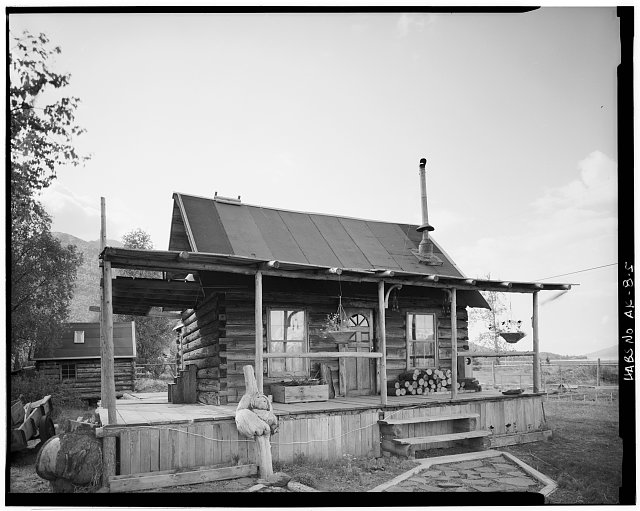 5.  CRAWFORD HOUSE (HATCH HOUSE, HUEY HOUSE, BUILT CA. 1910, MOVED FROM TIDAL FLATS IN 1973), CORNER SECOND AND B STS., EAST FRONT - Village of Hope, Hope, Kenai Peninsula Borough, AK