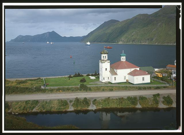 29. NORTHWEST FRONT AND SOUTHWEST SIDE, FROM ABOVE - Holy Ascension Russian Orthodox Church, Unalaska Island, Unalaska, Aleutian Islands, AK