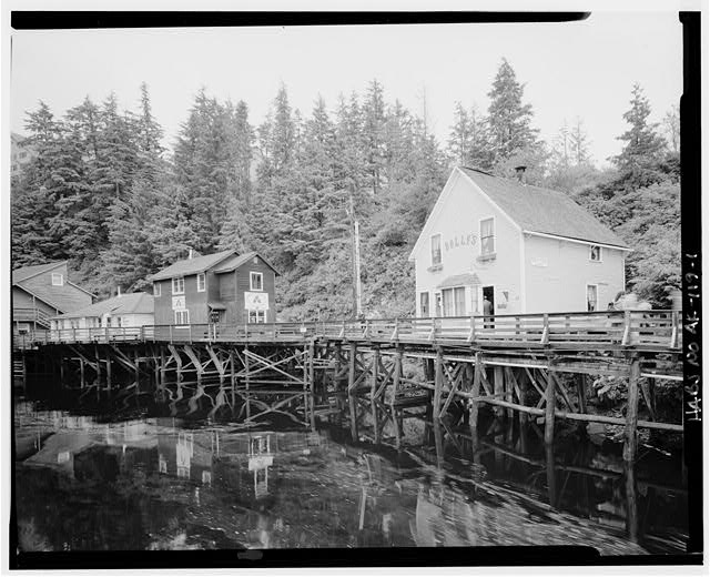 1.  WEST FRONT AND SOUTH SIDE - Dolly's House, 24 Creek Street, Ketchikan, Ketchikan Gateway Borough, AK