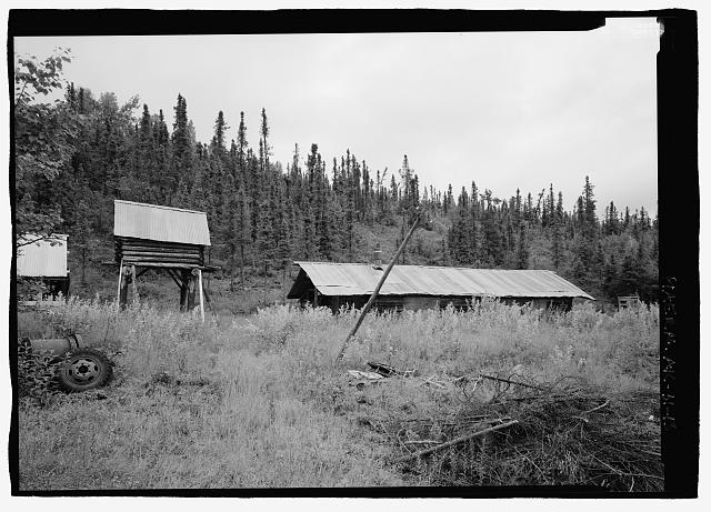 13.  From 340 degrees northwest, Earl Pilgrims cabin and cache - Stampede Gold Mine, Kantishna, Denali Borough, AK