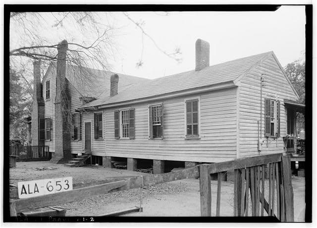 2.  Historic American Buildings Survey W. N. Manning, Photographer, March 26, 1935 REAR AND SIDE VIEW S.E. - Thomas Avery Fay House, 203 Washington Street, Prattville, Autauga County, AL