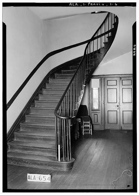 6.  Historic American Buildings Survey W. N. Manning, Photographer, March 26, 1935 STAIRWAY AND REAR HALL DOORS - Pope-Golson House, 815 Shadow Lane (moved from original location), Prattville, Autauga County, AL