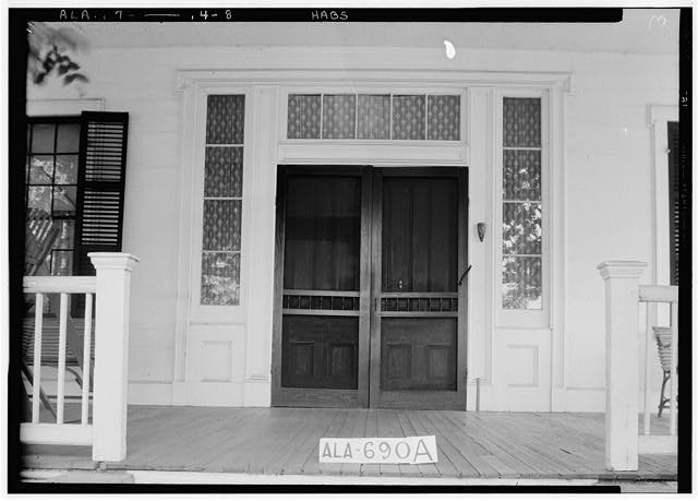 8.  Historic American Buildings Survey W. N. Manning, Photographer, June 13, 1935. FRONT DOOR TREATMENT (EXTERIOR) - Womack-Crenshaw Plantation, County Road 54, Greenville, Butler County, AL