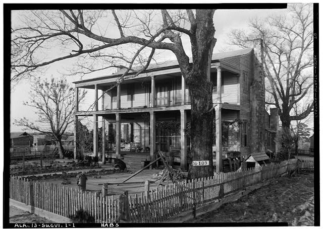 1.  Historic American Buildings Survey W. N. Manning, Photographer, March 13, 1934. FRONT ELEVATION. - Albert Wilson House, County Road 35, Suggsville, Clarke County, AL