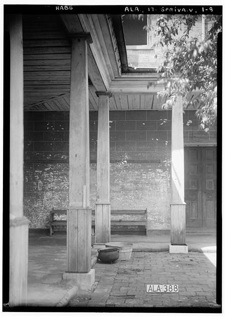 8.  Historic American Buildings Survey Alex Bush, Photographer, May 30, 1936 VIEW TOWARDS NORTH IN COURT (REAR) - Belmont, U.S. Highway 43, Spring Valley, Colbert County, AL