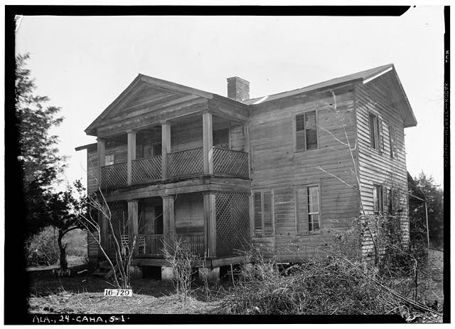 1.  Historic American Buildings Survey W. N. Manning, Photographer, March 23, 1934. FRONT VIEW. - Grace Evans House, Alabama River vicinity, Cahaba, Dallas County, AL