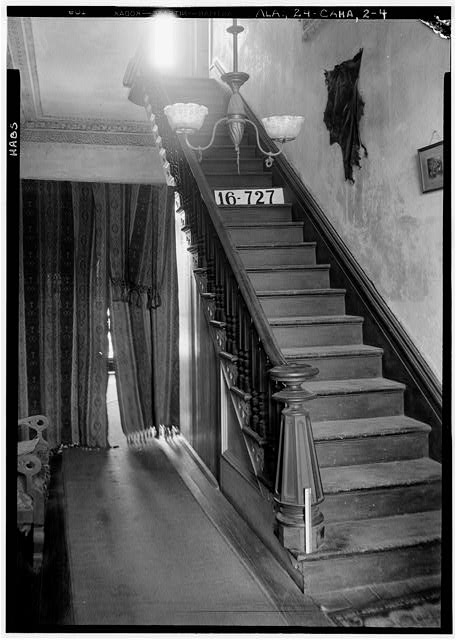 4.  Historic American Buildings Survey W. N. Manning, Photographer, March 23, 1934. HALL STAIRS. - Kirkpatrick House, Oak Street, Cahaba, Dallas County, AL