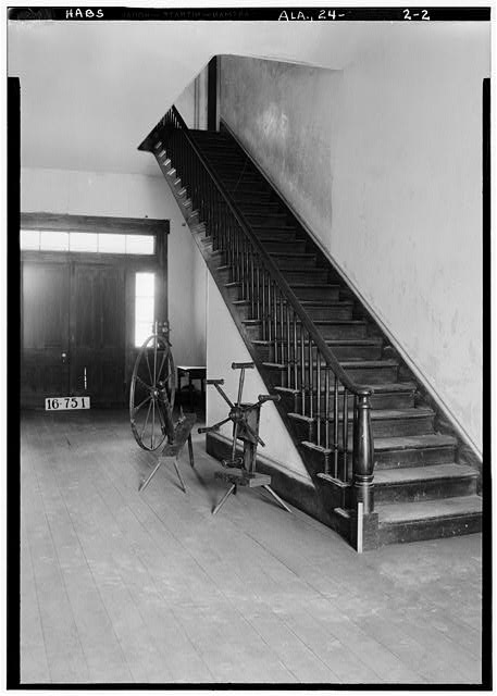 2.  Historic American Buildings Survey W. N. Manning, Photographer, March 17, 1934. STAIRS (TOWARD REAR) - Seal House, County Road 33 vicinity, Orrville, Dallas County, AL