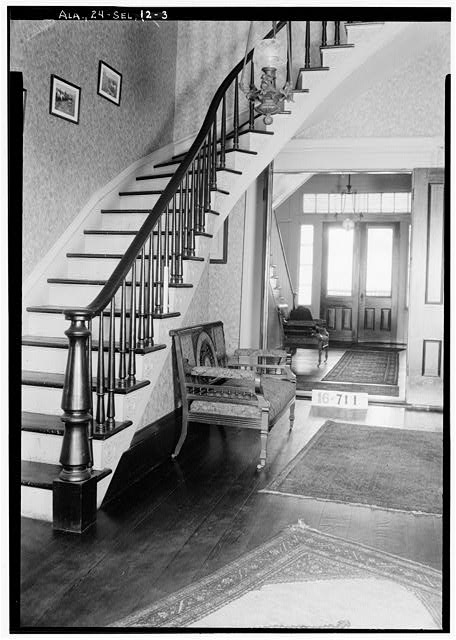 3.  Historic American Buildings Survey W. N. Manning, Photographer, March 23, 1934. STAIRS (FRONT LOOKING TOWARD REAR) - Dawson-Vaughan House, 704 Tremont Street, Selma, Dallas County, AL