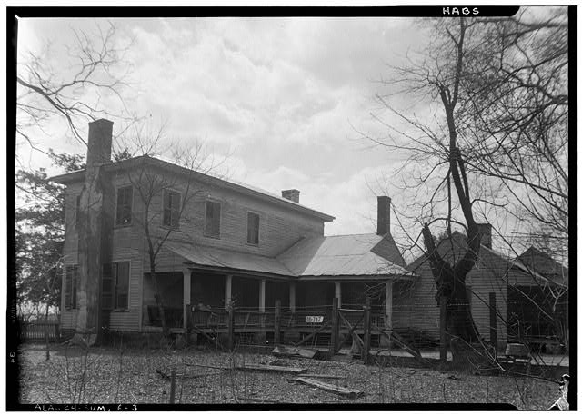 3.  Historic American Buildings Survey W. N. Manning, Photographer, March 23, 1934. REAR VIEW. - Moore House, Persimmon Street, Summerfield, Dallas County, AL