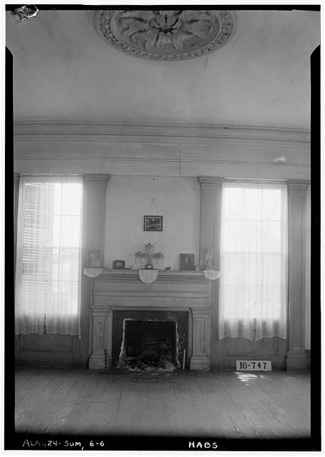 6.  Historic American Buildings Survey W. N. Manning, Photographer, March 23, 1934 FIREPLACE AND MANTEL (LIVING ROOM) - Moore House, Persimmon Street, Summerfield, Dallas County, AL