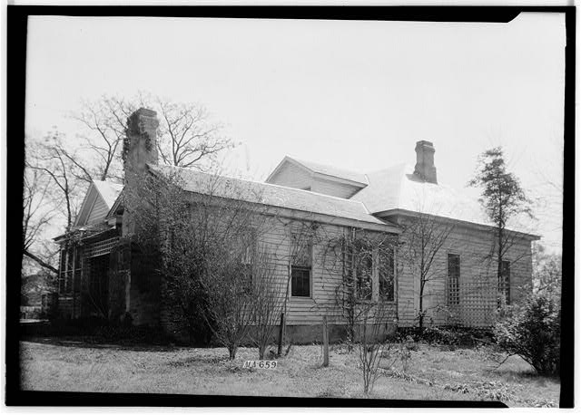 2.  Historic American Buildings Survey W. N. Manning, Photographer, March 15, 1935 REAR AND SIDE VIEW, N.W. - J. Bruce Airey House, 1202 West Tuskeena Street, Wetumpka, Elmore County, AL