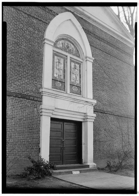 2.  Historic American Buildings Survey W. N. Manning, Photographer, March 15, 1935 FRONT ENTRANCE, N. - Baptist Church, 205 West Bridge Street, Wetumpka, Elmore County, AL