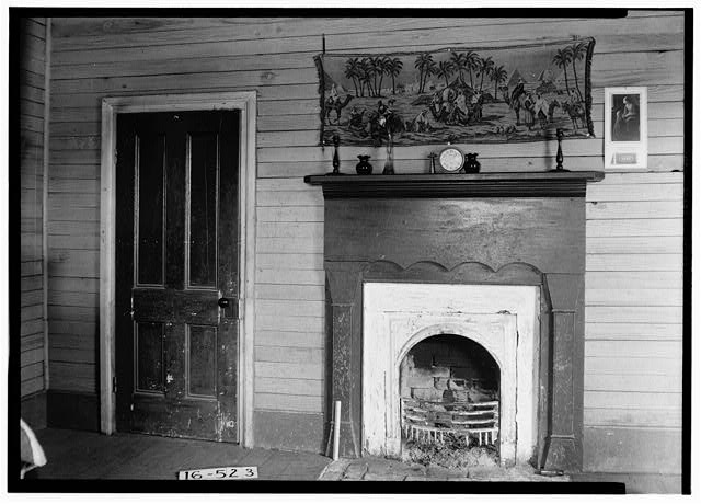 6.  Historic American Buildings Survey W. N. Manning, Photographer, December 11, 1934 MANTEL IN S.E. BED ROOM ALSO SHOWING DOOR TREATMENT - Oates-Danzey House, West Washington & Trawick Streets, Abbeville, Henry County, AL