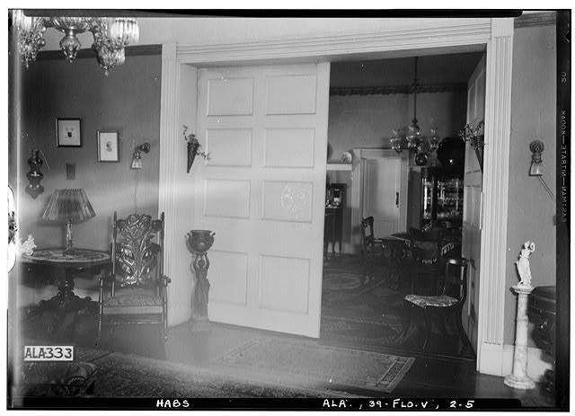 5.  Historic American Buildings Survey Alex Bush, Photographer, February 6, 1935 VIEW FROM LIVING ROOM THROUGH DINING ROOM - Sweetwater, Sweetwater Avenue & Florence Boulevard, Florence, Lauderdale County, AL
