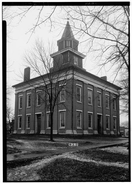 1.  Historic American Buildings Survey W. N. Manning, Photographer, March 8, 1934. GENERAL FRONT AND SIDE VIEW - Lawrence County Courthouse, Courthouse Square bounded by Main Street, Lawrence Street, Market Street & Court Street, Moulton, Lawrence County, AL