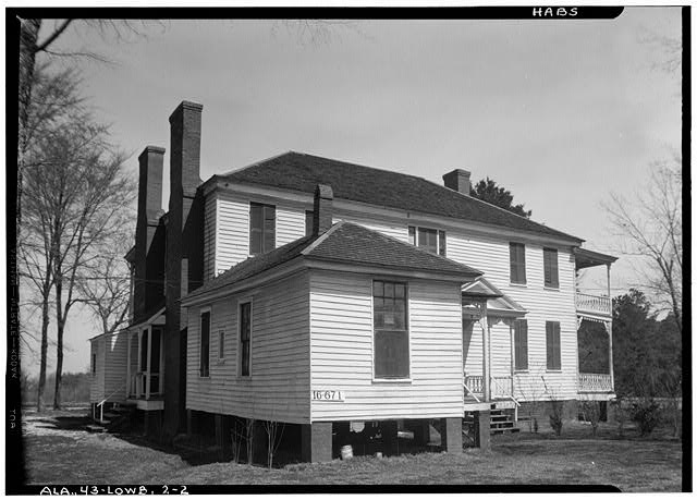 2.  Historic American Buildings Survey W. N. Manning, Photographer, March 3, 1934. REAR VIEW - Francis Lewis House, State Highway 97 (County Road 29), Lowndesboro, Lowndes County, AL