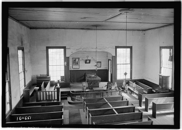 3.  Historic American Buildings Survey W. N. Manning, Photographer, March 29, 1935 VIEW TOWARD ALTAR - EAST END OF CHURCH - Old Methodist Church, State Highway 97 (County Road 29), Lowndesboro, Lowndes County, AL