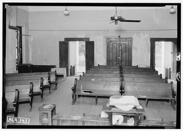 8.  Historic American Buildings Survey Alex Bush, Photographer, June 13, 1935 VIEW ON MAIN FLOOR, TOWARD N. W. - Old Marengo County Courthouse, Cahaba Avenue & Mobile Street, Linden, Marengo County, AL